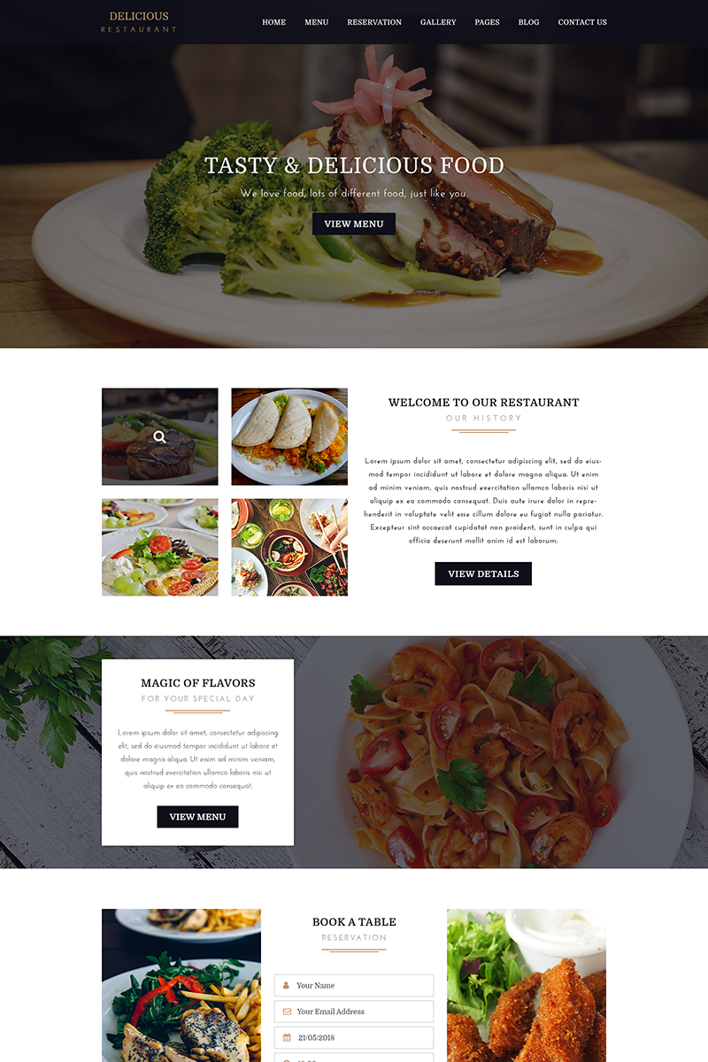 DELICIOUS - Restaurant PSD Template