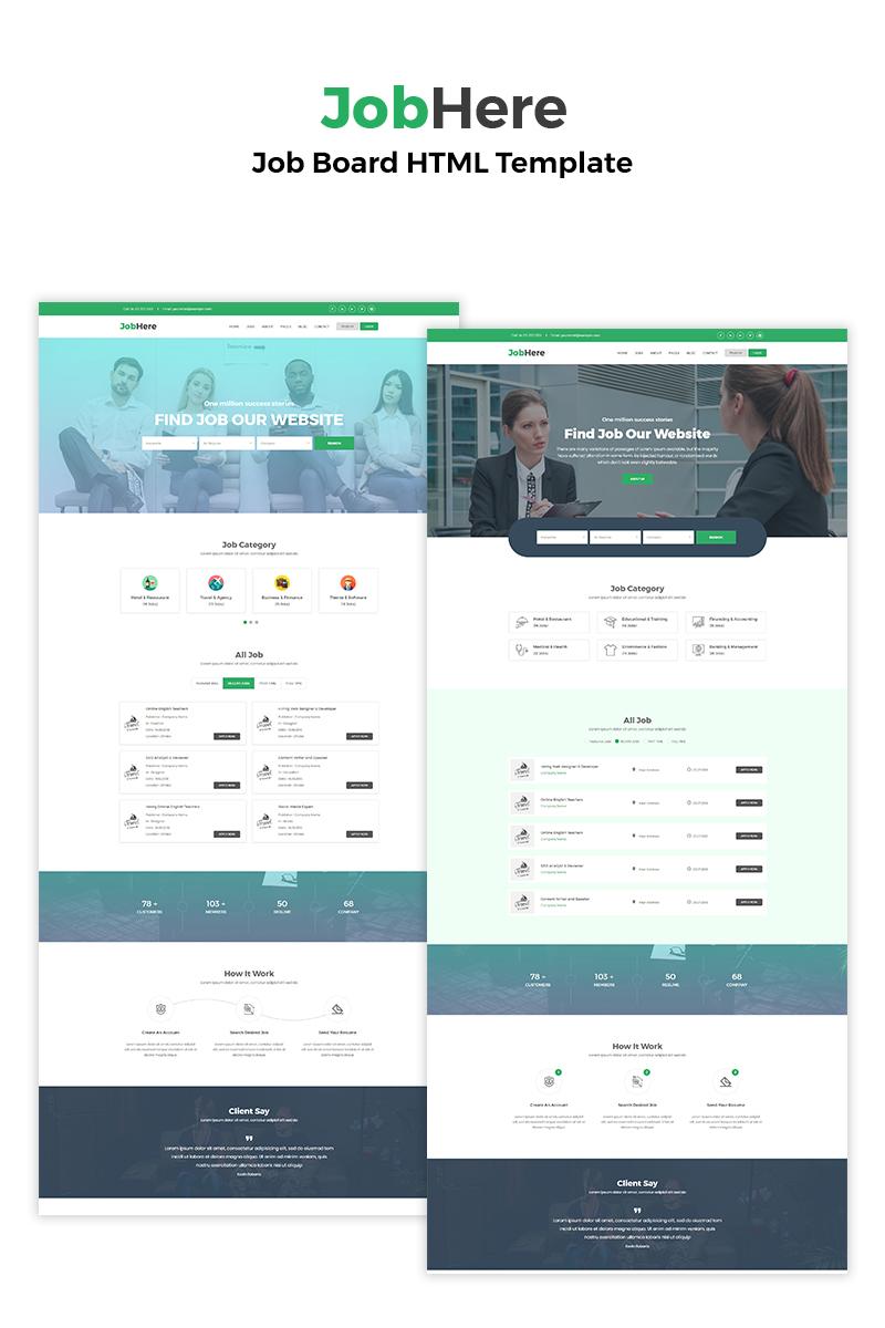 JobHere - Job Board Website Template