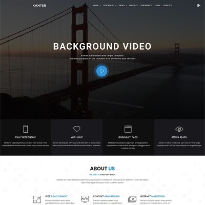 Kanter - Corporate&Portfolio&Agency WordPress Theme WordPress Theme #69402
