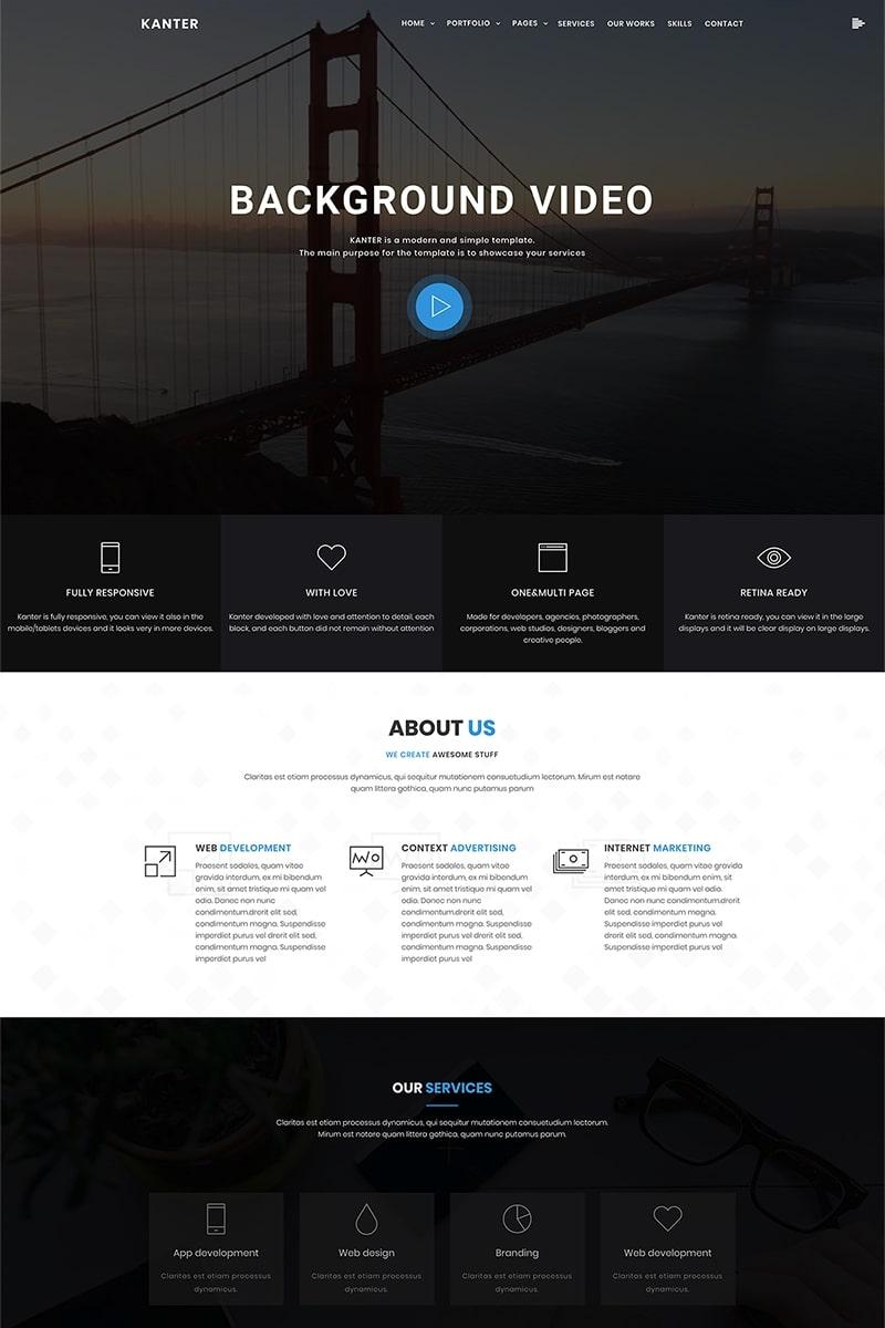 """Kanter - Corporate&Portfolio&Agency"" - bootstrap WordPress шаблон №69402"