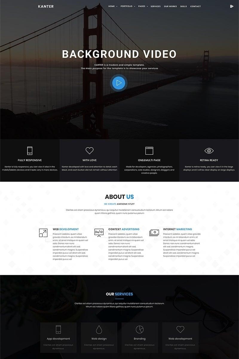 """Kanter - Corporate&Portfolio&Agency"" BootstrapWordPress模板 #69402"