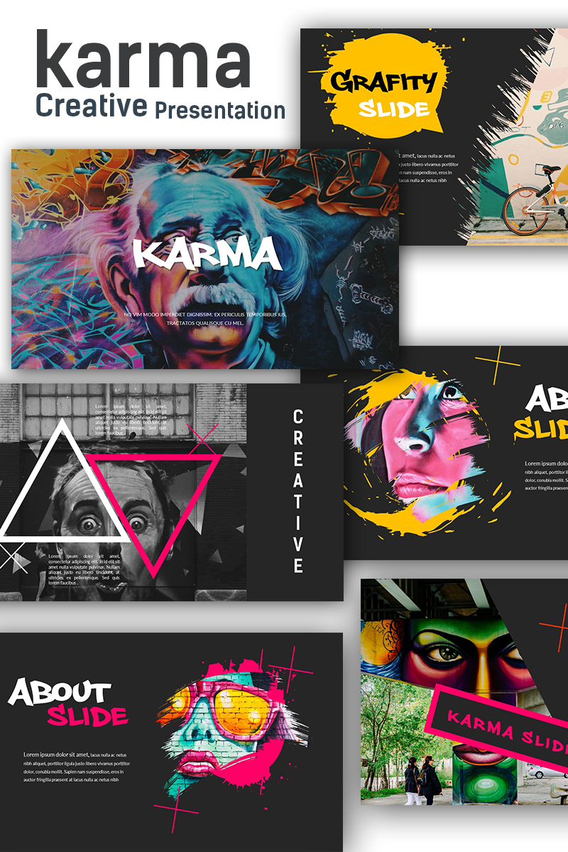 """Karma Creative Presentation"" PowerPoint Template №69451"