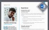 Krystian Armstrong - Creative Director Modelo de Currículo №69454