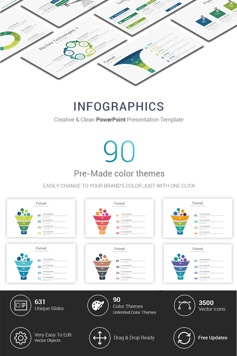 "Luxusní PowerPoint šablona ""Infographic"" #69420"