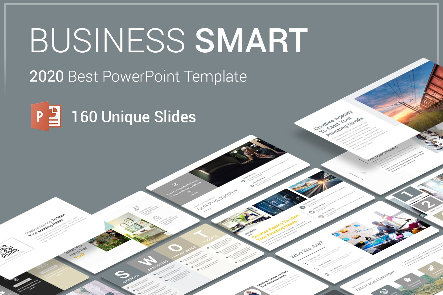 "Plantilla PowerPoint ""Business Smart"" #69444"