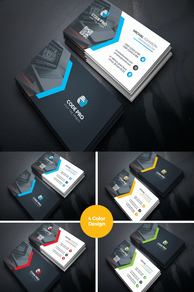 Prime Individual Cosmetic Business Card Corporate Identity Template - screenshot