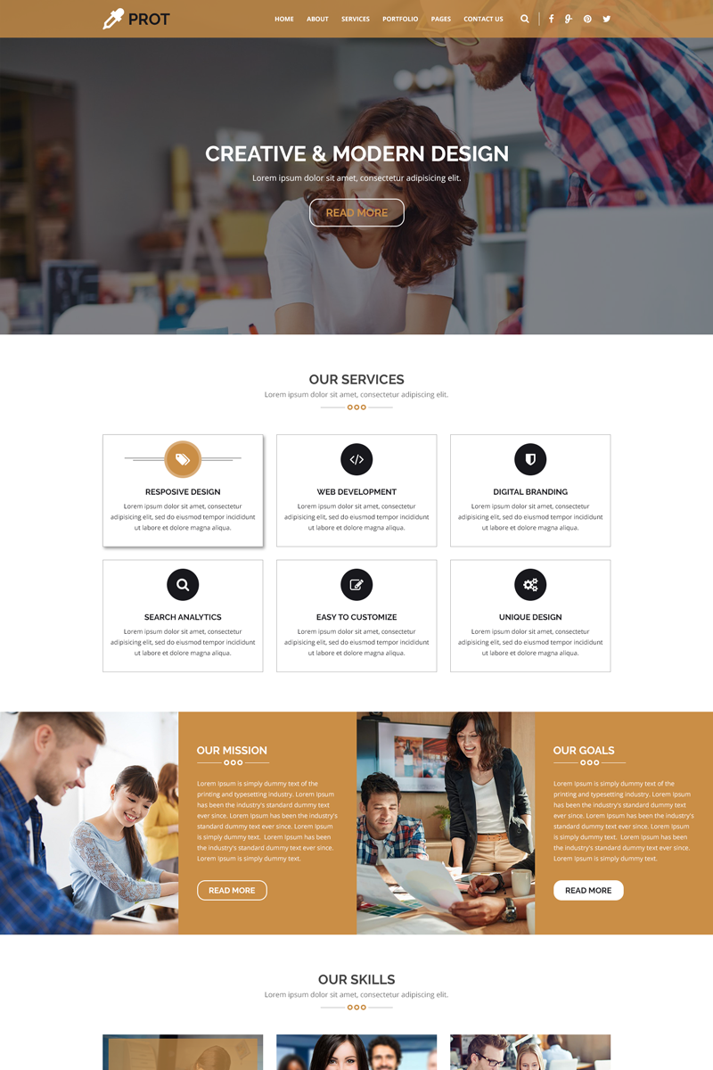 PROT - Creative Agency PSD Template