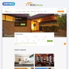 Real Estate Website Design Sample - Template Monster on sample database, sample doc, sample software,