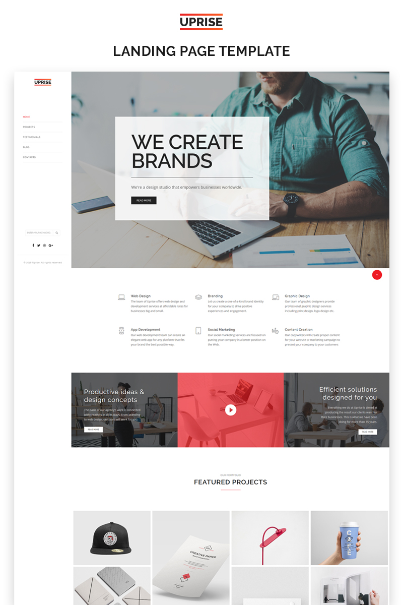 Uprise business html5 landing page templates uprise business html5 landing page template flashek Image collections