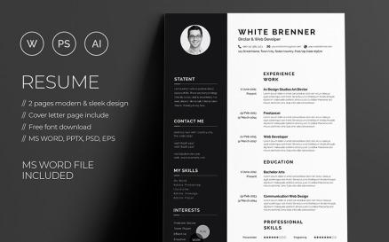 Minimal White Brenner Resume Template