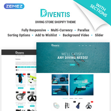 Preview image of Diventis - Diving Equipment Online Store