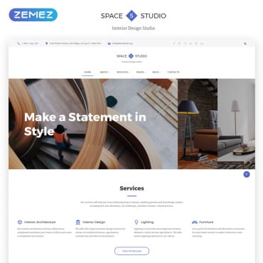 Preview image of Space Studio - Interior Design Multipage HTML5
