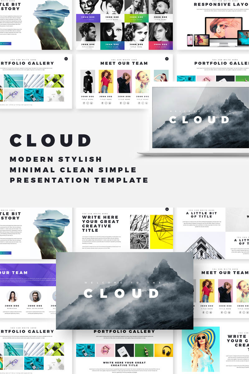 Cloud creative & corporate presentation Keynote Template
