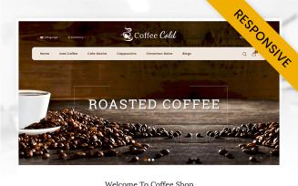 Cold Coffee Shop OpenCart Template