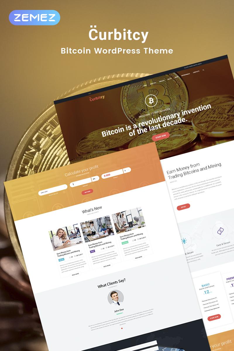 Curbitcy - Bitcoin Landing Elementor Tema WordPress №69579