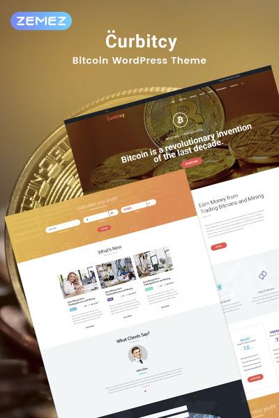 Curbitcy - Bitcoin Landing Elementor