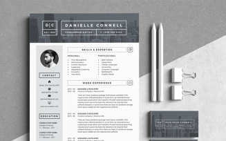 D Connell Modern Resume Template
