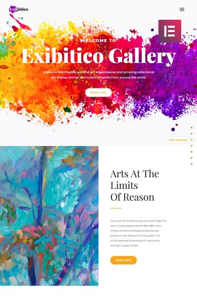 Exibitico - Art Gallery Elementor