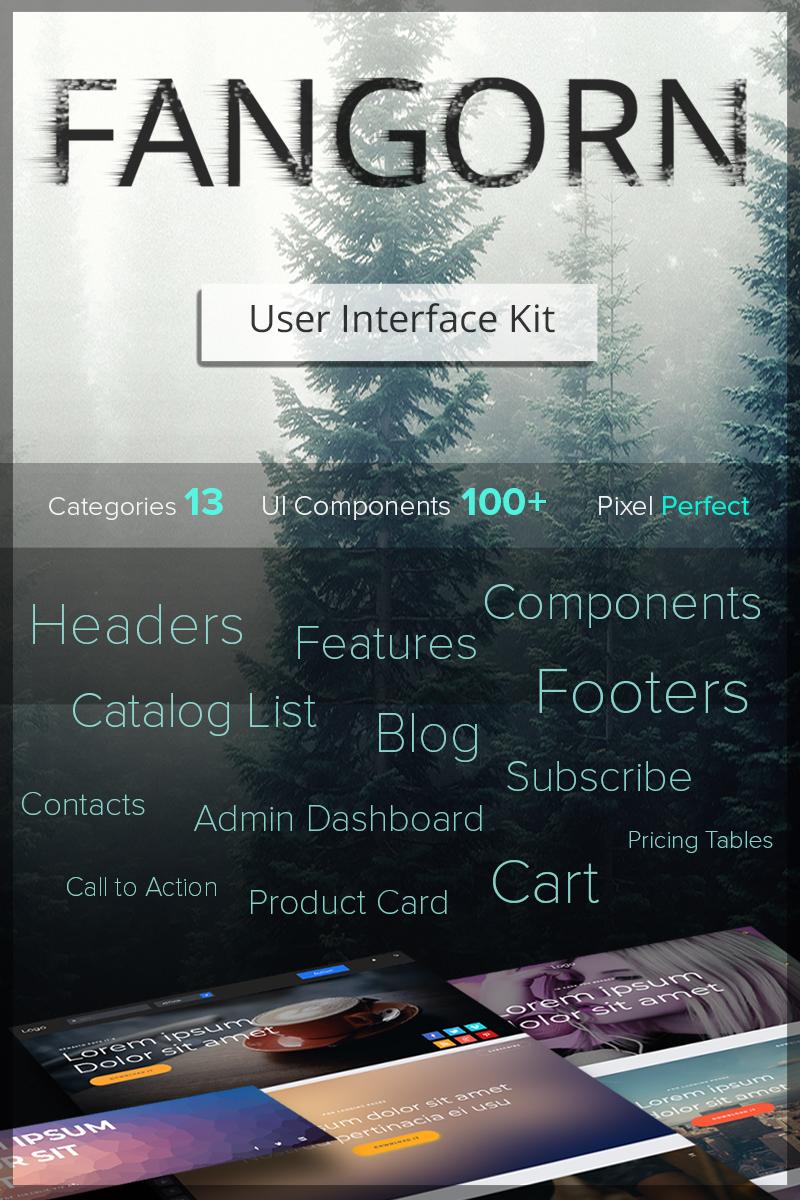 Fangorn UI Kit PSD Template