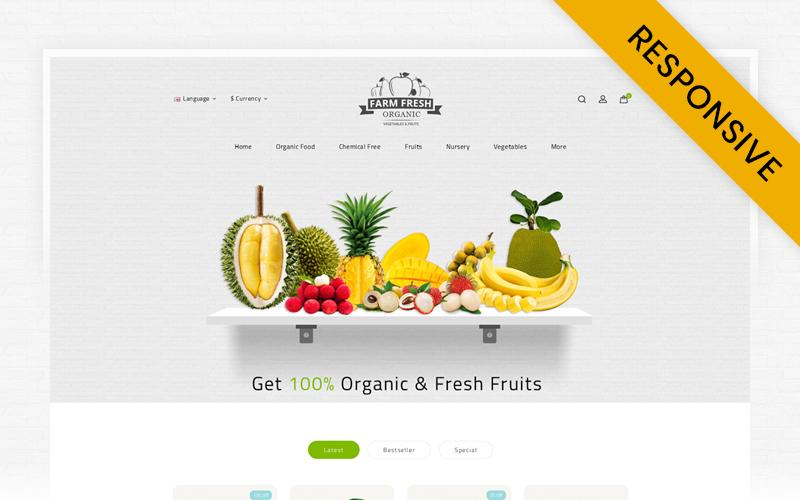 """Fresh Organic Store"" Responsive OpenCart Template №69543"