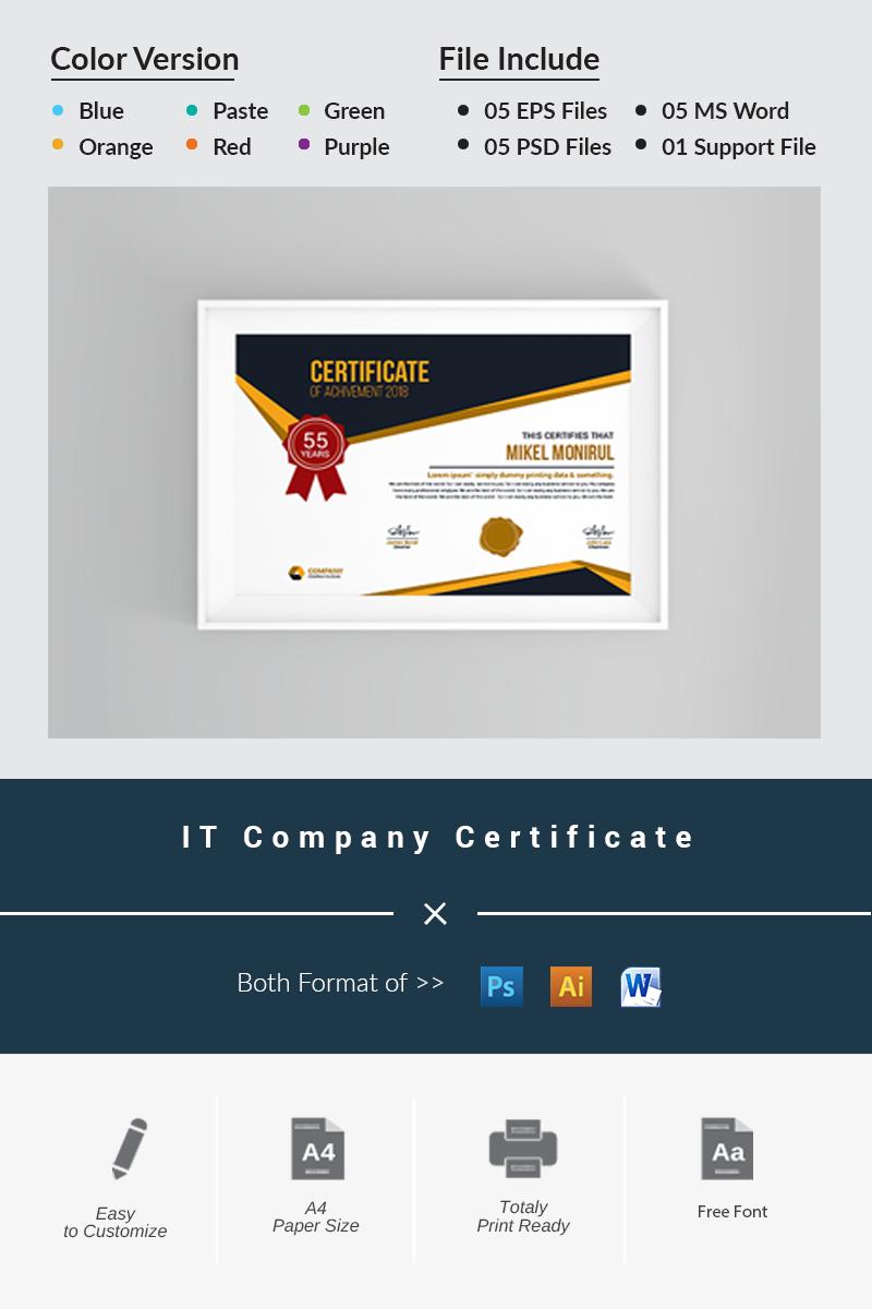 IT Company - Certificate Template