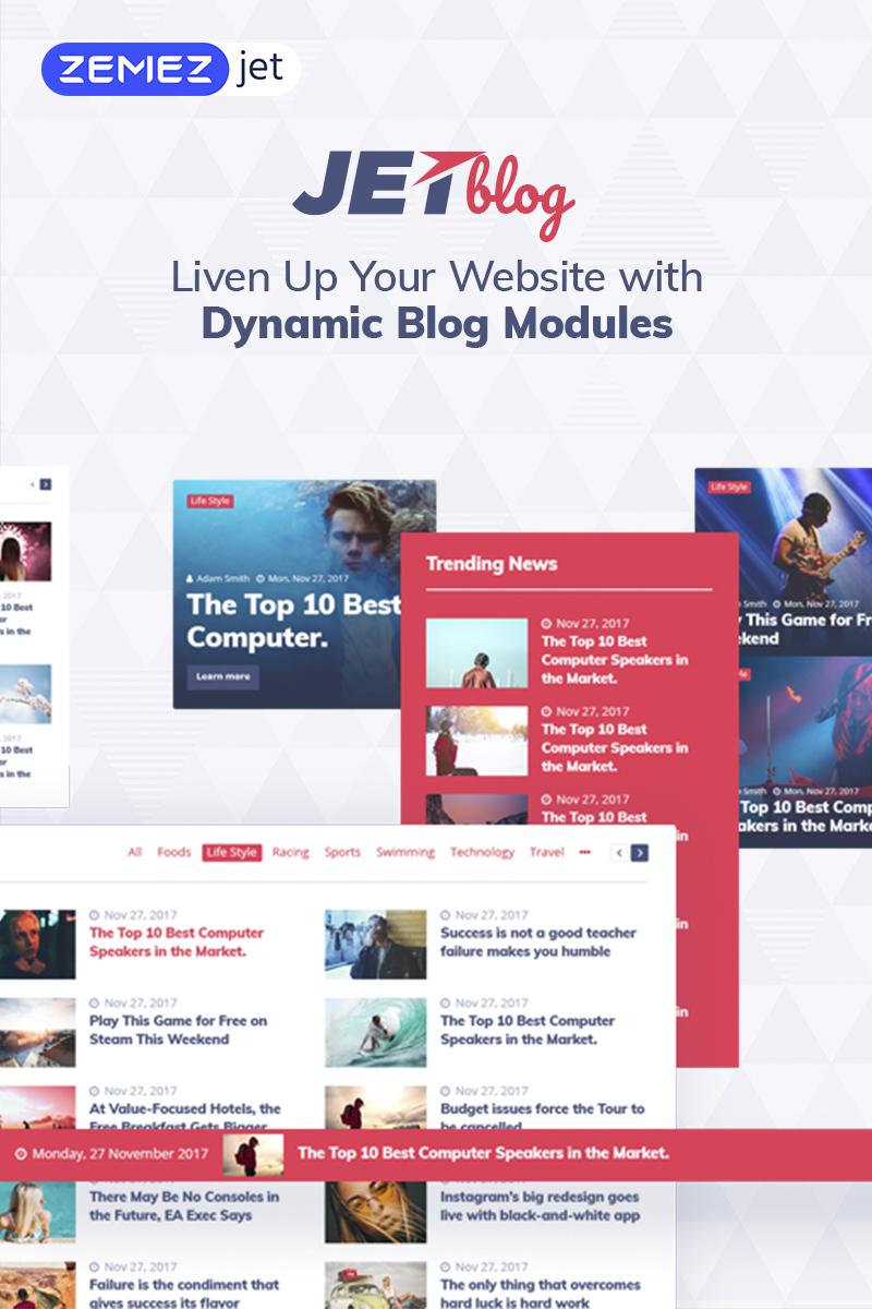 """JetBlog - Pack de blog pour Elementor Page Builder"" wordPress Plugin  #69506"