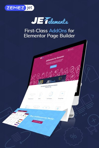 """JetElements - Addon pour Elementor Page Builder"" wordPress Plugin  #69508"