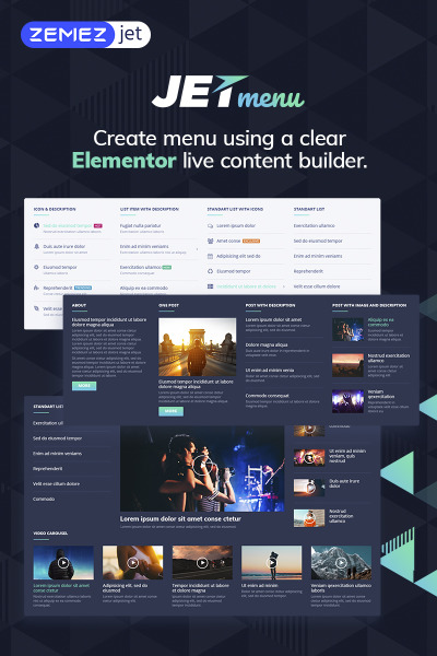 JetMenu - Mega Menu for Elementor Page Builder WordPress Plugin #69509