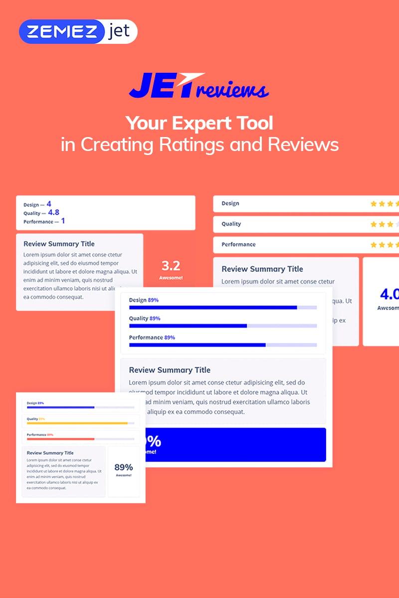 """JetReviews - Reviews Widget for Elementor Page Builder"" WordPress 插件 #69510"