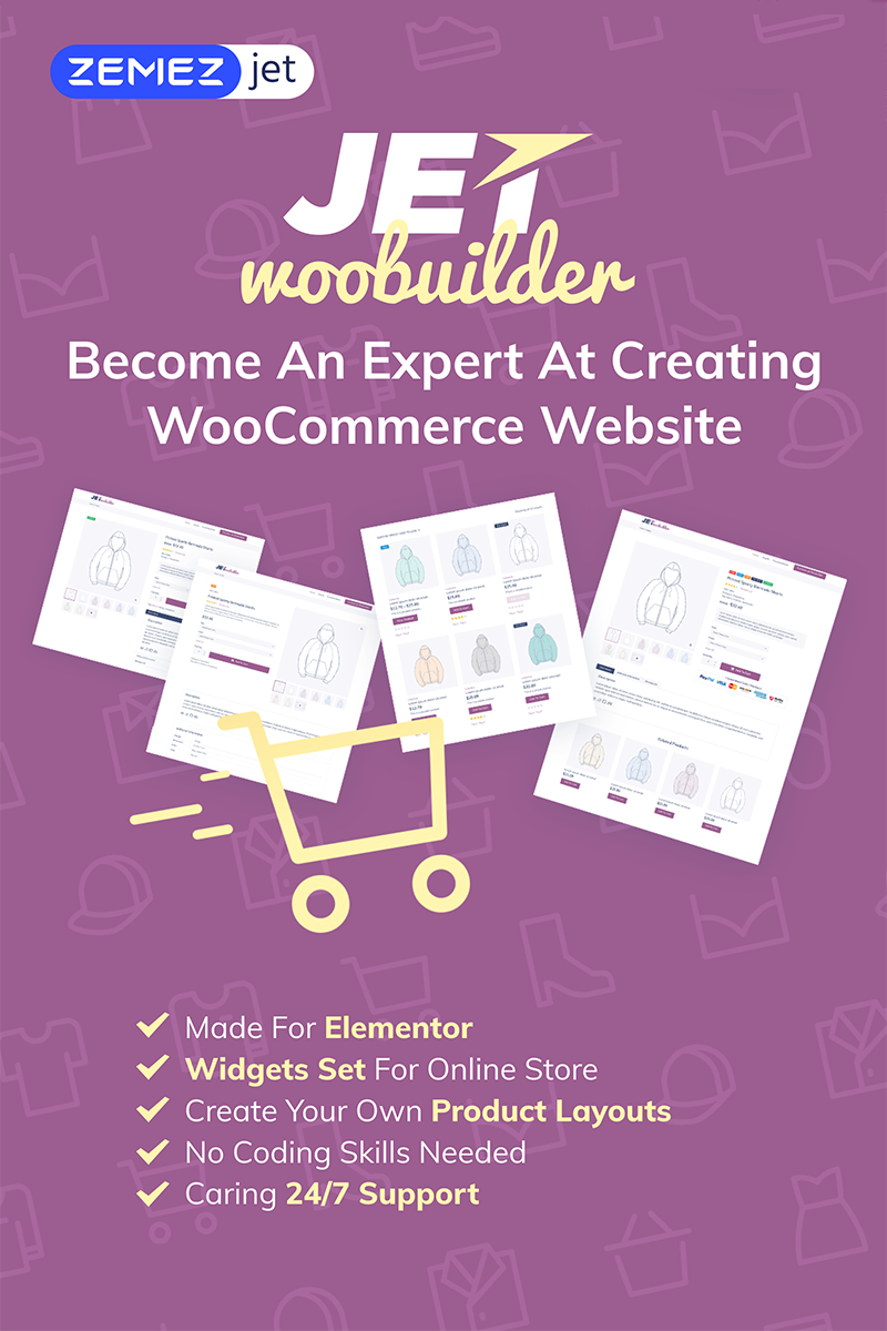 """JetWooBuilder - WooCommerce pagina-maker uitbreidingsmodule voor Elementor WordPress- invoegtoepassing"" WordPress Plug-in №69528 - screenshot"