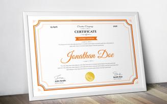 Jonathan Doe - Clean Certificate Template