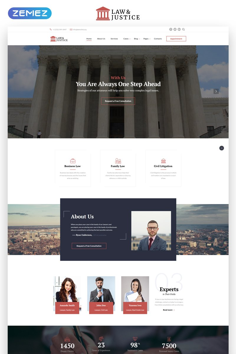 Law & Justice - Multipage HTML5 Website Template