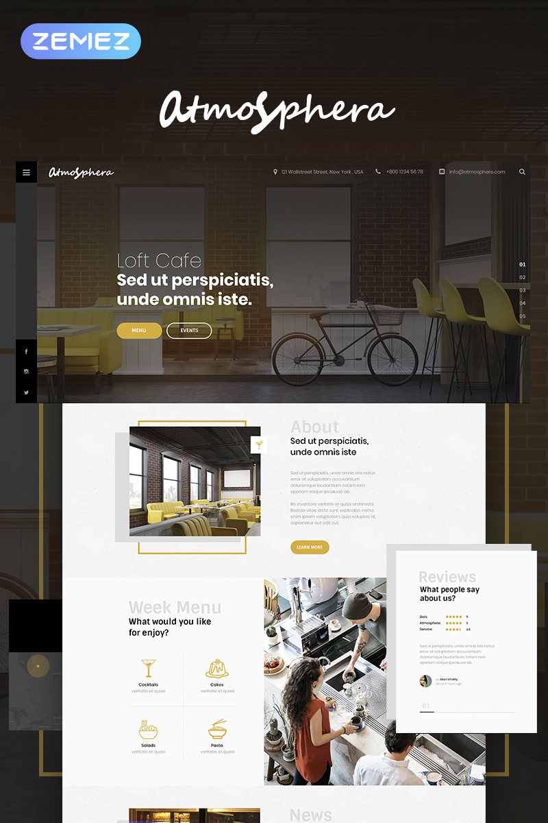 Lunar Cafe - Cafe & Restaurant Elementor WordPress Theme