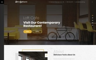 Lunar Cafe - Cafe & Restaurant WordPress Elementor Theme