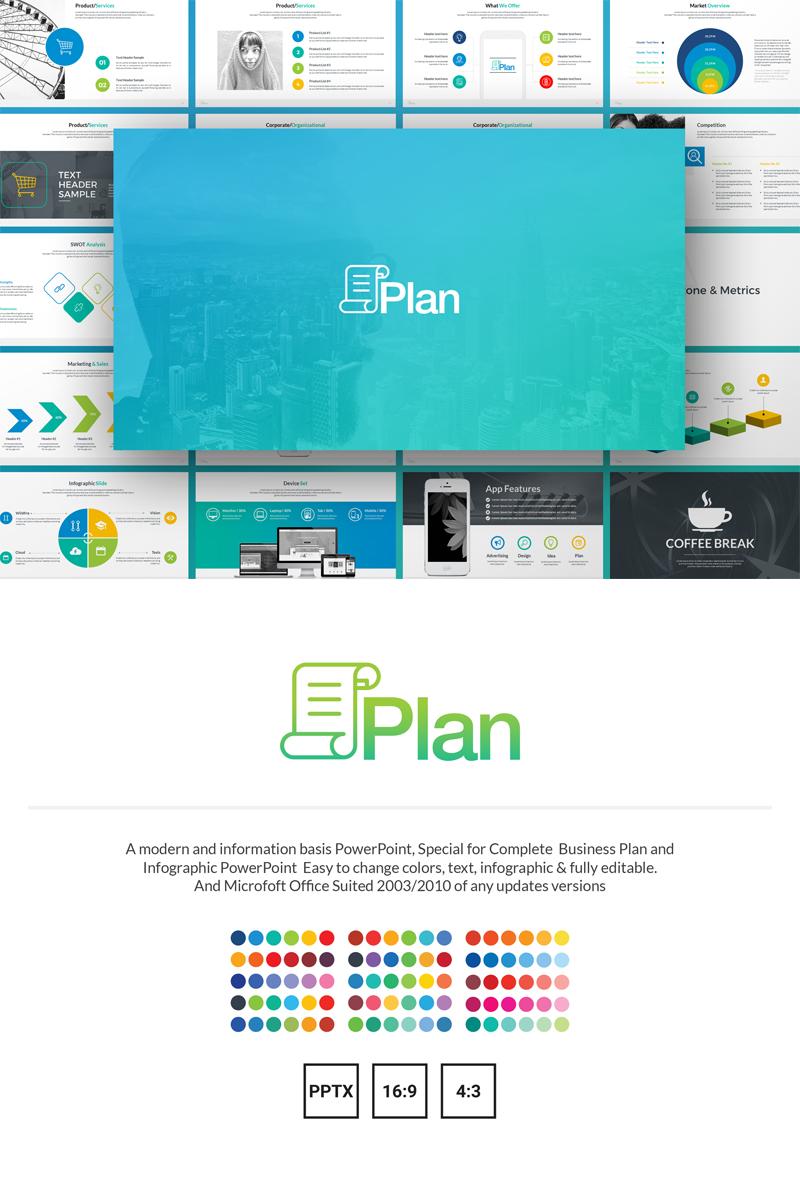 "Plantilla PowerPoint ""Plan - Business Plan & Infographic"" #69570"