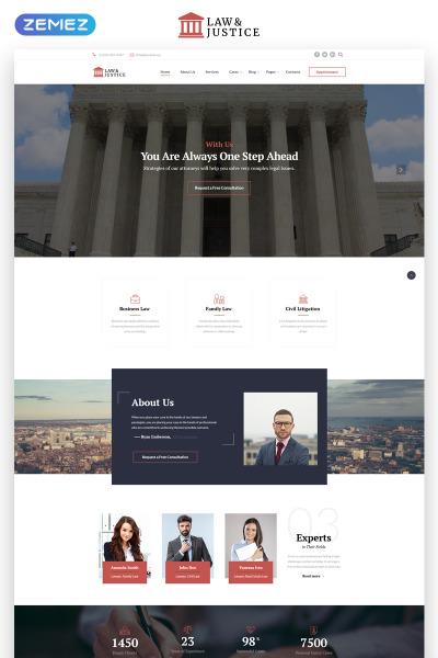 Plantilla Web para Sitio de Abogados o licenciados #69596