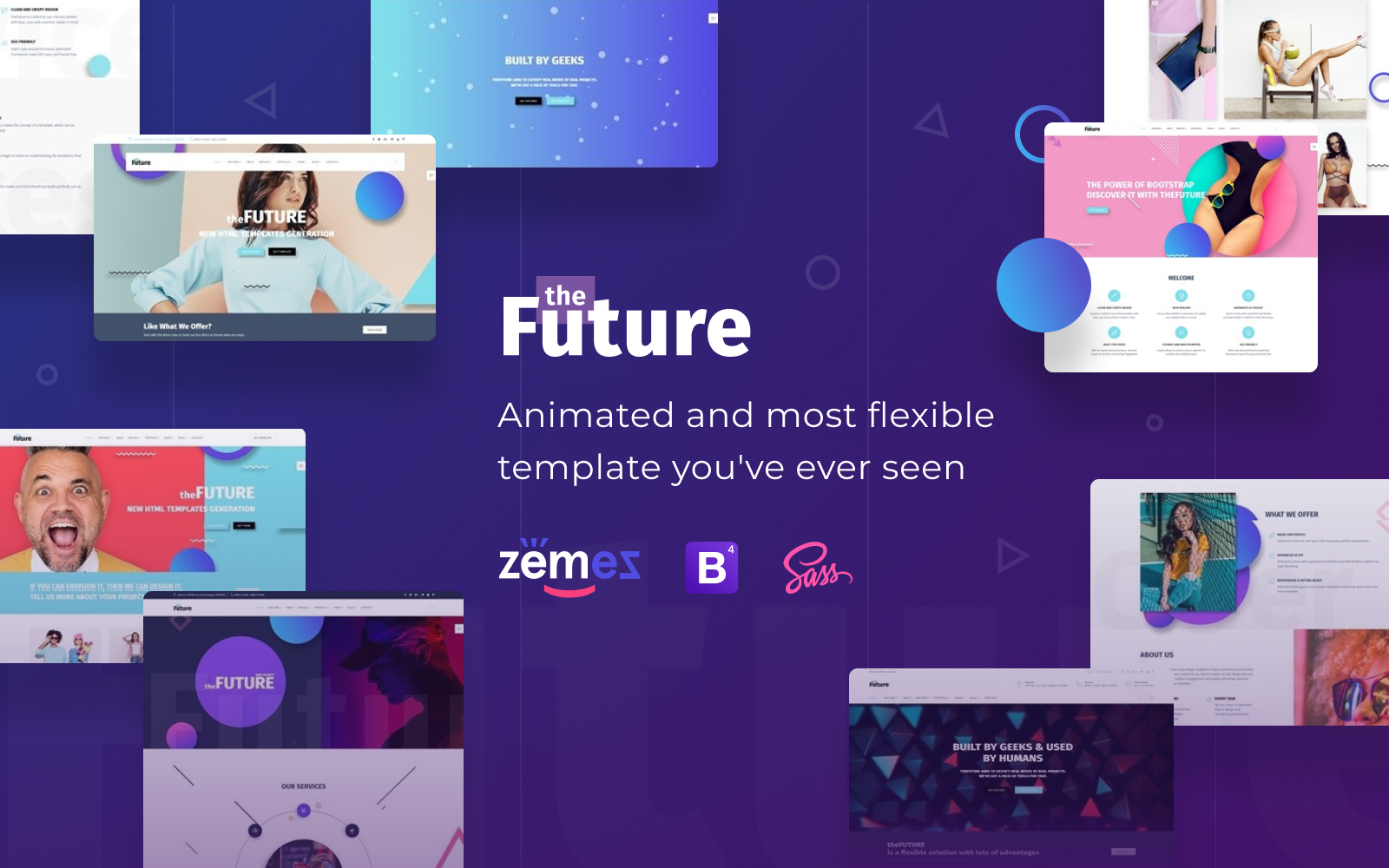 "Plantilla Web ""The Future - Web Design Multipurpose HTML5"" #69536 - captura de pantalla"