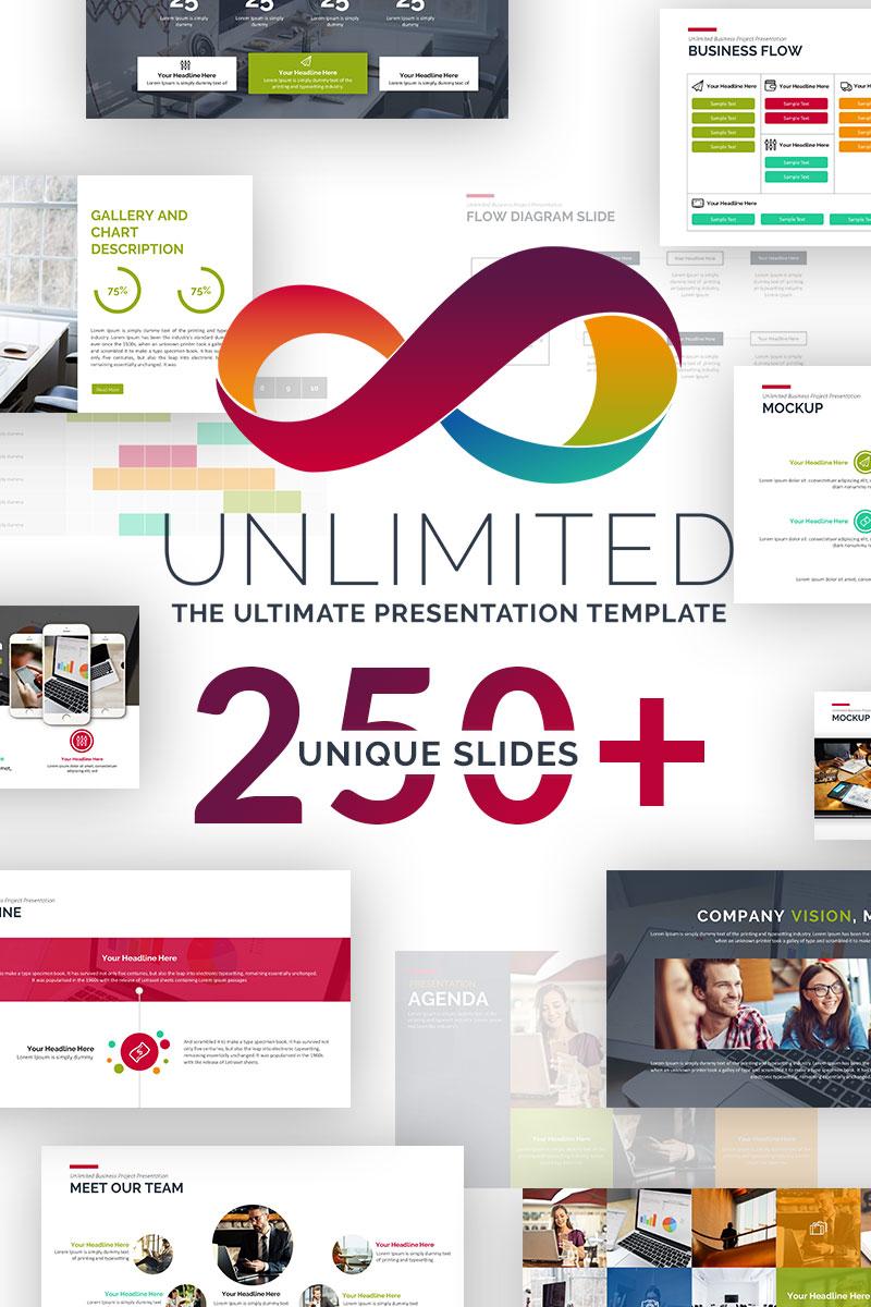 "PowerPoint šablona ""Unlimited Business Project Asset"" #69554 - screenshot"