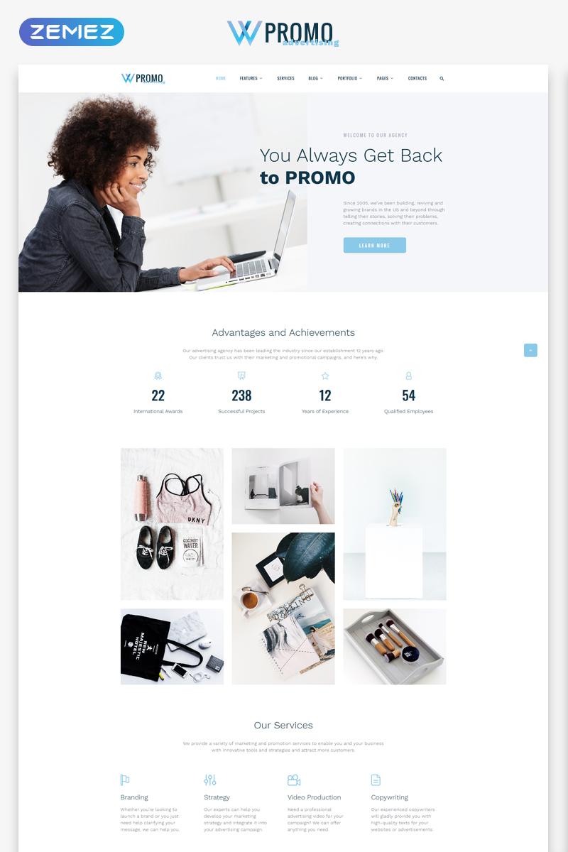 Responsive Promo - Advertising Agency Multipage HTML5 Web Sitesi #69547