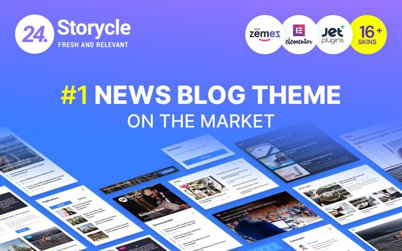Responsivt 24.Storycle - Multipurpose News Portal Elementor WordPress-tema #69580 - skärmbild