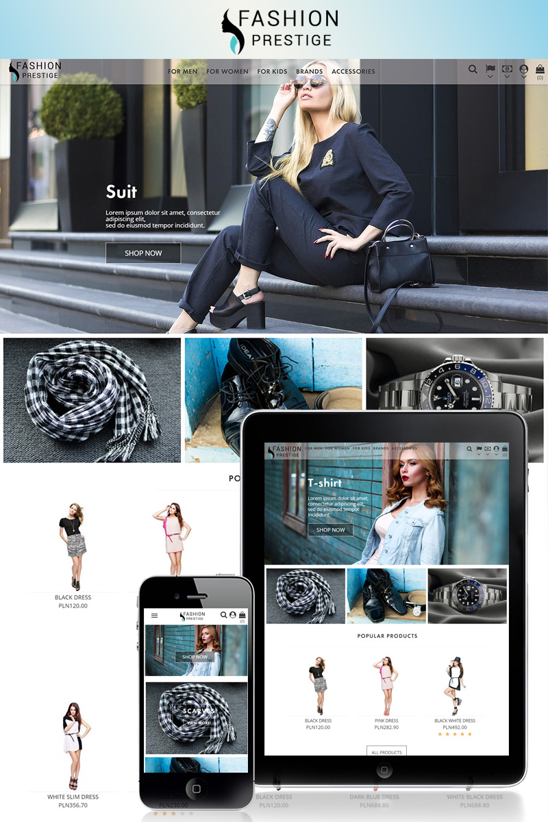 "Responzivní PrestaShop motiv ""Prestige - Fashion 1.7"" #69539 - screenshot"
