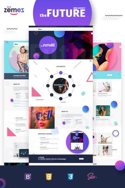 Web Design Responsive Šablona Webových Stránek