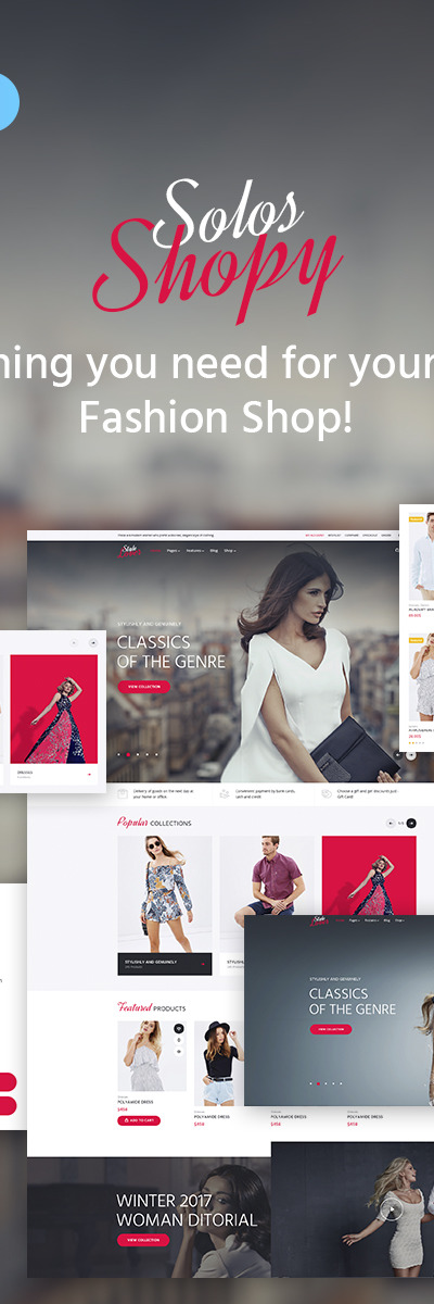 SolosShopy - Fashion Shop WooCommerce Theme