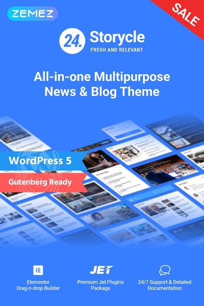 24.Storycle - Многоцелевой Elementor WordPress шаблон новостного сайта #69580