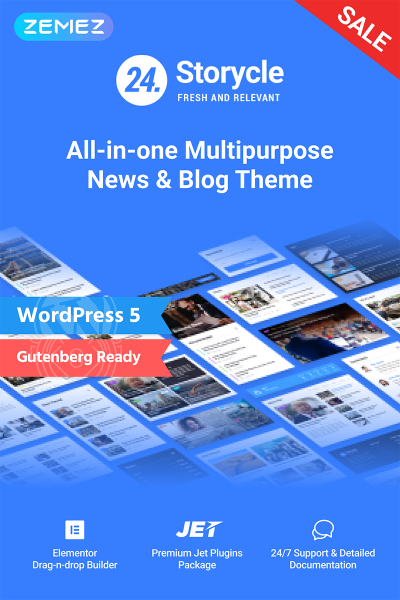 24.Storycle - Multipurpose News Portal Elementor WordPress Theme #69580