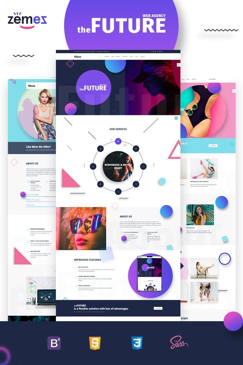 The Future   Web Design Multipurpose HTML5 Website Template #69536