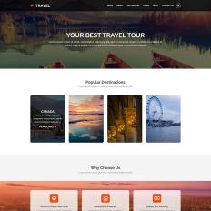 Travel Agency PSD Template #57383