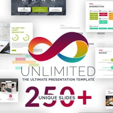 unlimited business project cool ppt theme