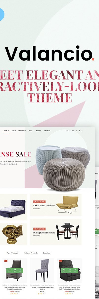 Valancio - Home Decor WooCommerce Theme