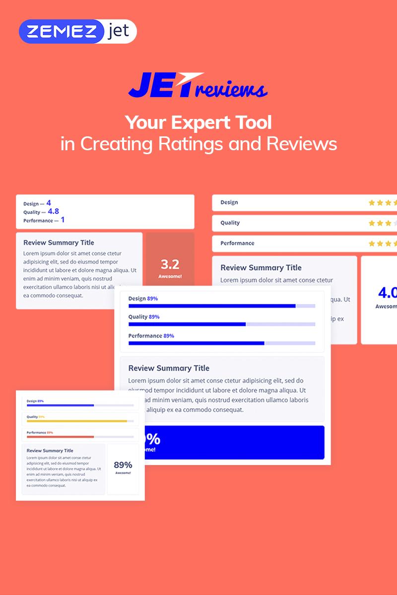 """WordPress Plugin """"JetReviews - Widget pro zobrazení recenzí"""" #69510"""